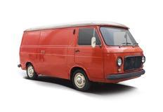 Взгляд со стороны Классическ Итальянск фургона Фиат 238 изолировал на белизне стоковая фотография rf
