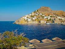 Взгляд со стороны острова Hydra Стоковые Изображения RF