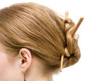 взгляд со стороны японца coiffure Стоковая Фотография RF
