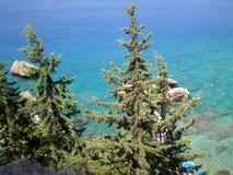 Взгляд Средиземного моря от смотровой площадки стоковое фото