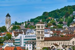 Взгляд старого Цюриха стоковые изображения rf