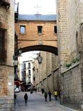 Взгляд старой улицы Испания toledo стоковое изображение rf