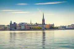 Взгляд старых городка или Gamla Stan в Стокгольме, Швеции Стоковая Фотография
