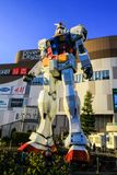 Взгляд статуи в Токио, Японии Gundam стоковые фото