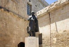Взгляд статуи Pawlu Boffa, мальтийсного премьер-министра 1947 до 19 Стоковое фото RF