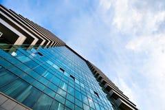 взгляд стеклянного высокого здания подъема Стоковое Фото