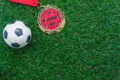 Взгляд столешницы предпосылки сезона кубка мира футбола или футбола Стоковые Фотографии RF