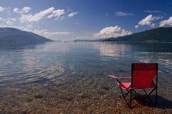 взгляд стула пляжа стоковое изображение