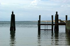 взгляд стыковки пляжа стоковые изображения rf