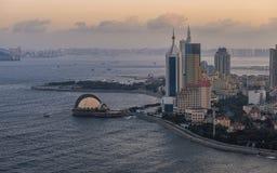 Взгляд сумрака Qingdao стоковые фото