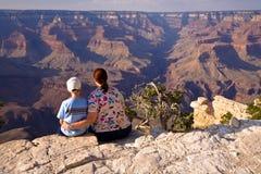взгляд сынка мати gand каньона Стоковые Изображения