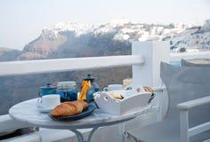 взгляд таблицы установки горы завтрака Стоковое Изображение RF