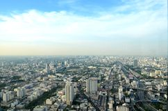 взгляд Таиланда птицы bangkok Стоковые Фотографии RF