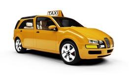 взгляд таксомотора принципиальной схемы автомобиля изолированный будущим Стоковые Изображения
