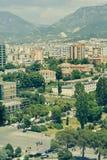 Взгляд Тирана, Албания города стоковая фотография rf