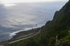 Взгляд Тихого океана от скалистого северного побережья острова орхидеи Lanyu стоковое фото rf