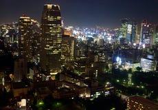 взгляд токио ночи стоковые фотографии rf