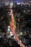 взгляд токио ночи Стоковые Изображения