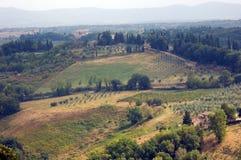 взгляд Тосканы типичный Стоковые Изображения RF