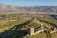 Взгляд трутня крепости Coltesti воздушный, Румыния стоковое фото rf