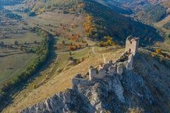 Взгляд трутня крепости Coltesti воздушный, Румыния стоковое изображение