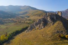 Взгляд трутня крепости Coltesti воздушный, Румыния стоковые фото