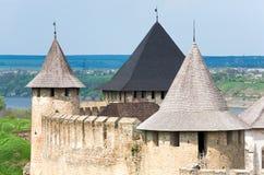 взгляд Украины весны khotyn крепости Стоковые Фото
