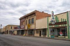 Взгляд улицы Алисы Техаса стоковая фотография
