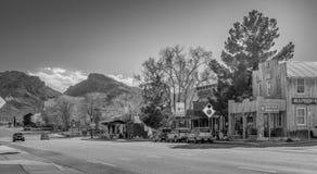 Взгляд улицы в городе Beatty - BEATTY, США - 29-ОЕ МАРТА 2019 стоковое фото rf