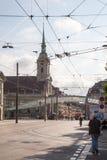 Взгляд улицы в городе Bern Стоковое фото RF