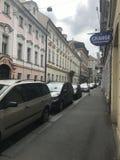 Взгляд улицы в Кракове Стоковое Фото