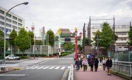 Взгляд улицы в центре города в Иокогама, Японии Стоковые Изображения