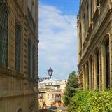 Взгляд улицы города Баку старый стоковое фото