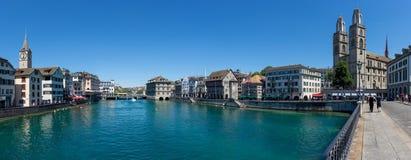 Взгляд улицы городского Цюрих, Швейцарии стоковые фото