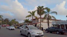 Взгляд улицы на городке Сан-Диего старом - САН-ДИЕГО, США - 1-ОЕ АПРЕЛЯ 2019 акции видеоматериалы