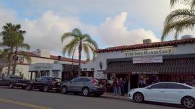 Взгляд улицы на городке Сан-Диего старом - САН-ДИЕГО, США - 1-ОЕ АПРЕЛЯ 2019 видеоматериал