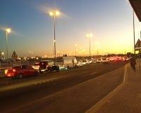 Взгляд улицы ночи стоковая фотография rf