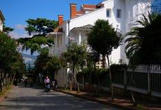Взгляд улицы от Buyukada стоковая фотография rf