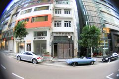 взгляд улицы централи на Гонконге 2010 стоковое фото rf