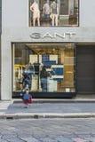 Взгляд улицы центра города Милана Стоковые Изображения