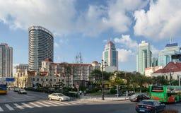 Взгляд улицы Qingdao стоковые изображения