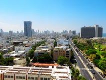 Взгляд улиц Тель-Авив Туристическая достопримечательность города Лето 2018 стоковые изображения rf