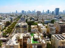 Взгляд улиц Тель-Авив Туристическая достопримечательность города Лето 2018 стоковые фото