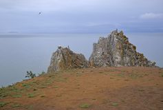 Взгляд утеса и озера Стоковая Фотография