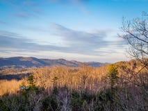 Взгляд утра гор Теннесси Smokey Стоковые Изображения