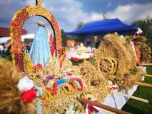 Взгляд фестиваля сбора художественный в ярких цветах стоковое изображение rf