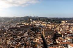 Взгляд Флоренса от колокольни стоковые фотографии rf