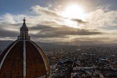 Взгляд Флоренса от колокольни стоковая фотография rf