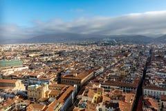 Взгляд Флоренса от колокольни стоковое фото rf
