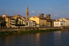 Взгляд Флоренса от реки Арно Стоковое Фото
